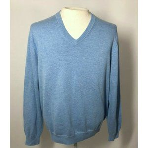 Brooks Brothers Blue Cotton Sweater Mens Large